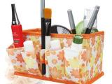 韩版多用途化妆品收纳盒/化妆品盒/无纺布 化妆盒-橙色小花