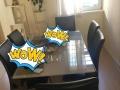 全新超高档餐桌 中间可拉长