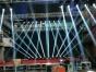 三门峡灯光线阵LED大屏投影机、幕布桁架喷绘舞