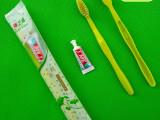 酒店一次性牙刷牙膏二合一 宾馆一次性牙具套装客房用品 空心牙刷