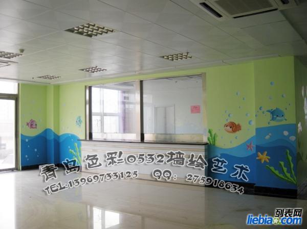 青岛幼儿园墙体彩绘 幼儿园彩绘 幼儿园墙绘 幼儿园手绘墙