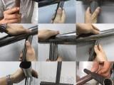 百叶防盗栏防护栏铁管开孔冲孔送料机楼梯扶手坡口磨口机冲C口