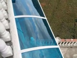 重庆户外阳台窗台遮雨遮阳 pc耐力板雨阳篷工程塑料支架 高品质