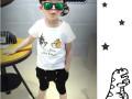 山东厂家直销特价童装批发夏天小孩子T恤衫套装批发保证质量