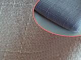 厂家直销 2014年新品家纺沙发面料 梭织全涤仿麻布方格麻面料