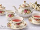 15头真骨瓷英伦皇家描金咖啡具 茶具 出口正单 多花色现货可混批