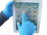 触摸屏功能保暖手套批发 义乌电容触屏针织手套iphone魔术手套