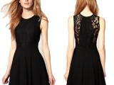 女装批发 赫本小黑裙春款蕾丝收腰连衣裙春夏时尚品牌 连衣裙