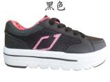 大量运动鞋批发 新款回克潮流女鞋 高底鞋批发 520# 三色 黑