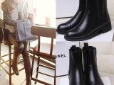 女靴欧洲站冬季新款真皮马丁靴 中跟牛皮小辣椒同款中筒靴功能鞋