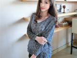 宽松镂空针织衫v领线衫纯色新款春秋薄外套女套头蝙蝠袖毛衣