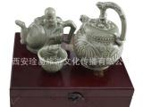 中国风礼品 仿古耀州瓷器 三件套装 双层
