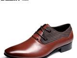 BEZIR商务皮鞋真皮正品头层牛皮男鞋尖头男士装婚鞋透气单鞋子