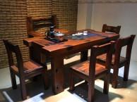 老船木功夫茶桌 船木古典茶台 泡茶桌椅组合批发