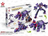 【新品】星钻积木3代积变战士恐龙 儿童塑料拼装玩具三角龙8160