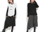 T3061#韩版个性潮人  大码女装新款大裆裤 条纹加厚垮裤 靴裤