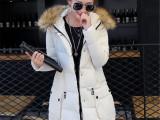 秋冬新款 韩版毛领中长款大码 女式时尚羽绒棉衣SZFTSQDT