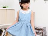 女童牛仔裙儿童连衣裙童裙子连衣裙夏季韩版童装中小童一件代发