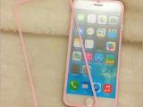 全屏覆盖iphone6苹果6 plus粉色边钢化玻璃贴膜彩膜彩色