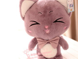 蓝白玩偶可爱猫公仔 蜜奇猫咪毛绒玩具玩偶布娃娃送女友生日礼品