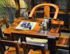 老船木长餐桌 纯实木简单茶桌 原生态现代古典家具 功夫茶台