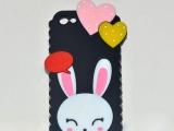 热销优质苹果系列手机外壳 硅胶爱心兔手机
