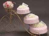 新款欧式创意铁艺蛋糕架自行车婚庆三层糕点架花架梯形置物架甜品