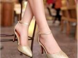 2014夏新款女士凉鞋 尖头细跟高跟鞋  欧美品牌女士鞋