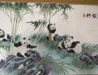 十字绣作品,竹戏熊猫