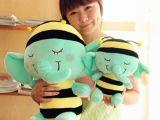 批发小蜜蜂大象毛绒玩具薄荷绿小象公仔布娃娃玩偶圣诞节生日礼物