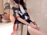欧洲站 欧美女装2014秋冬装新品欧美大牌经典格子带帽斗篷披肩