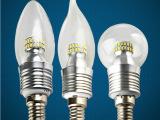 led灯泡E14E27螺口5W3wLED蜡烛灯尖泡拉尾水晶灯节能