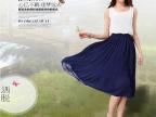 2014夏装新款大码女装 气质波西米亚雪纺连衣裙