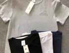 阿迪女装短袖批发一二线运动品牌服装 断码库存服装尾货