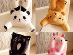 批发供应 熊猫腰枕 卡通多功能腰枕/靠垫/靠枕 汽车坐枕 毛绒玩具