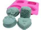 4连铜钱猪硅胶手工皂模 硅胶蛋糕模 蛋糕工具diy silicone制品