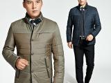 九牧王棉衣男装中年男士加厚外套爸爸装 秋冬新款男休闲保暖棉服