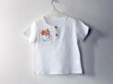 2015新品童装棉麻打底衫中小童宝宝休闲短袖T恤夏男