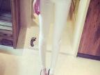 2015秋冬新款4粒扣弹力显瘦外穿白色小脚裤打底裤铅笔裤