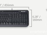 供应微软灵巧600键鼠套装,双USB接口,适合家用、办公、游戏