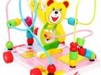 木制拖车绕珠拖拉串珠0-1-2岁宝宝玩具早教益智学步玩具 23款可选