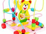 木制拖车绕珠拖拉串珠0-1-2岁宝宝玩具早教益智学步玩具 23款