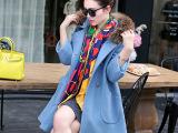 冬装爆款高档品牌毛呢外套女 中长款真毛领羊毛呢子大衣女款风衣