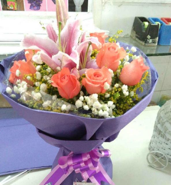 绿之意鲜花预定生日节日花束花篮佛山同城配送