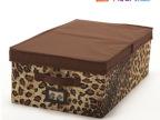 博纳屋雅典娜系列豹纹衬衣收纳箱 牛津布整理箱 有盖储物箱 0.97