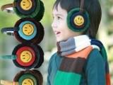 韩版新款秋冬季天毛绒耳包保暖宝宝儿童卡通笑脸护捂耳罩耳套批发