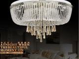 古镇厂家批发现代简约LED水晶灯欧式吸顶灯卧室客厅灯饰遥控灯具