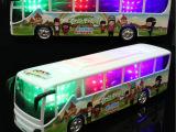 万向电动音乐巴士车 电动模型玩具 儿童电动玩具车