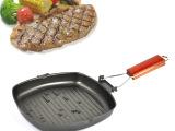 折叠煎锅 加厚款方形煎锅不粘锅平底锅 牛排煎锅