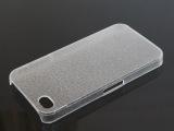 苹果Iphone4透明皮纹PC壳磨砂单底 水晶壳批发 4S手机套